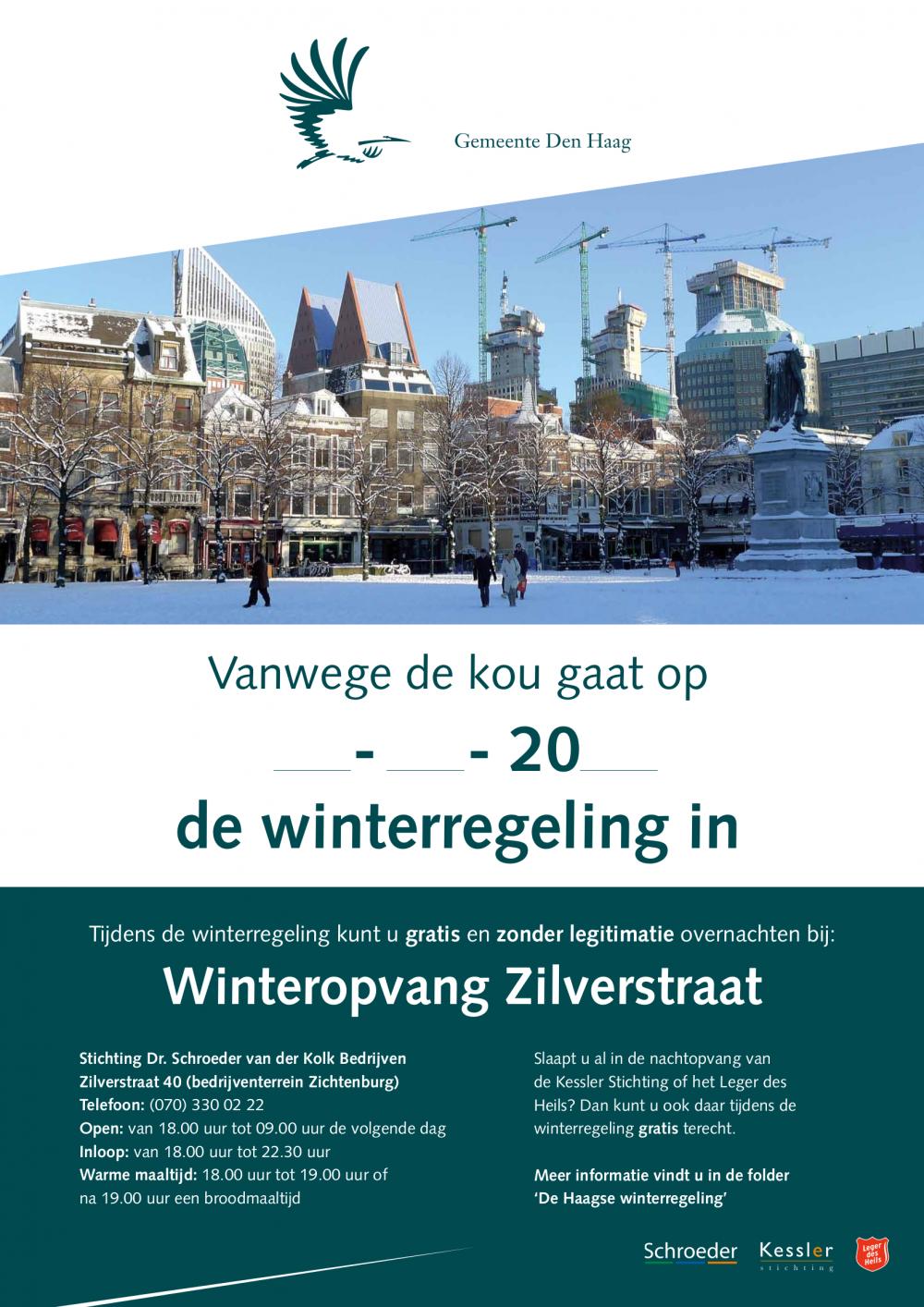 Winterregeling daklozen in Den Haag