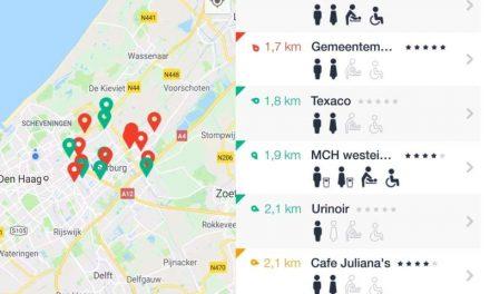 Hoge nood App. Vind toiletten in Nederland