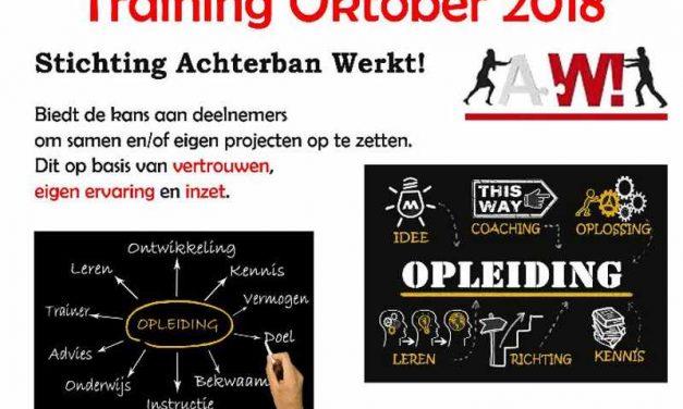 Stichting Achterban Werkt! biedt training gericht op zelfontwikkeling, persoonlijke groei en samenwerking