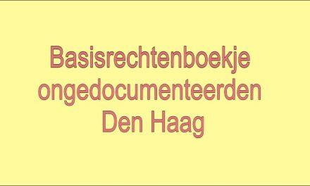 Basisrechtenboekje ongedocumenteerden Den Haag