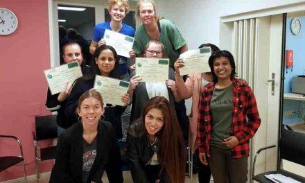 Certificaten PAJA training uitgereikt aan het onderzoeksteam van het project Samen 18 en vooruit!
