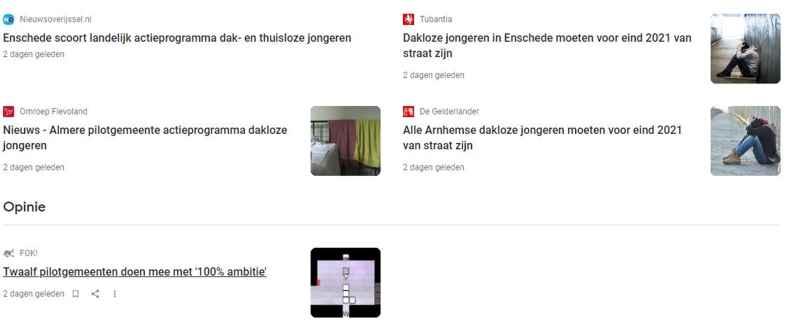 Landelijke actieprogramma's verschijnen in de media voor dakloze jongeren in Nederland
