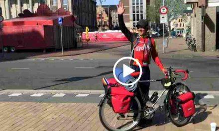 Ex-dakloze vertrokken voor immense fietstocht naar Lissabon voor het goede doel