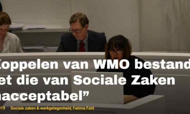 """""""Koppelen van WMO bestanden met die van Sociale Zaken onacceptabel"""""""