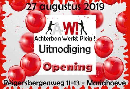 27 augustus 2019 opening Achterban Werkt! plein