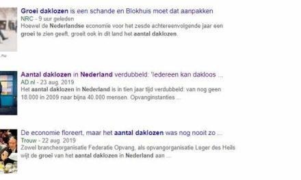 Landelijke- en lokale media staan vol over de groei van het aantal daklozen in Nederland