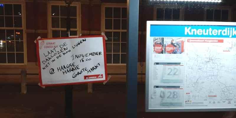 Vrijdag 1 november actie voor meer plekken in de Nachtopvang