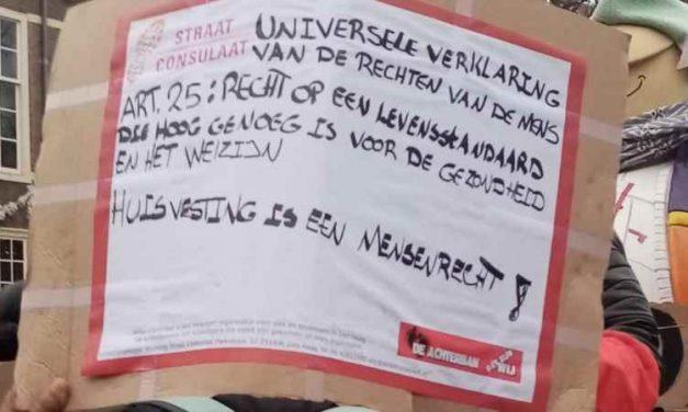 Tekst tijdens actiedag op 1 november 2019 'Laat de daklozen niet in de kou liggen'