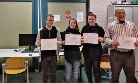 Certificaat uitreiking en Start nieuwe training Educatieproject