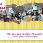 Terug naar school training: 7 van de 9 deelnemers behalen certificaat