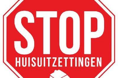 Bond Precaire Woonvormen protesteert bij Staedion tegen huisuitzettingen