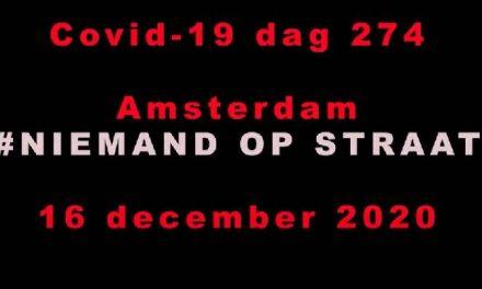 Niemand op straat demonstratie Amsterdam