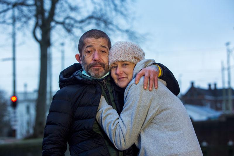 Het gezicht van de daklozen in Den Haag: Monika en Andre