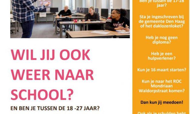 Start nieuwe 'Terug naar school' training  in maart 2021