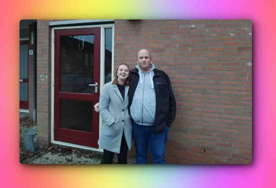 Raymond en Laura voor het nieuwe huis!
